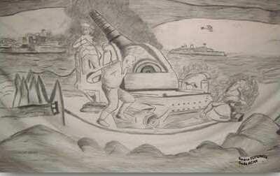 Çanakkale Savaşı Karakalem Çizimleri