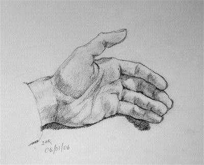 Karakalem El çizimleri Resimli Güzel Sözler