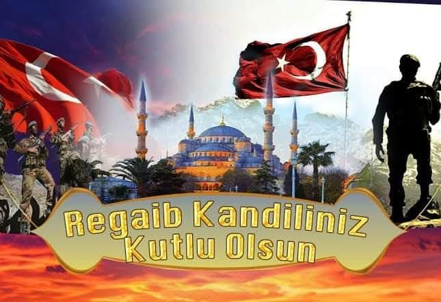 Türk bayrağı asker kandil mesajı