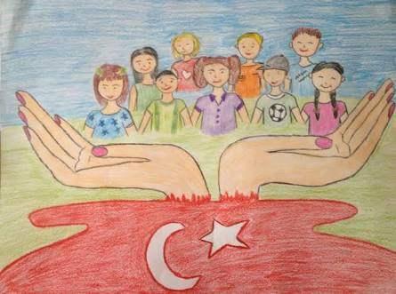 23 Nisan Çizimleri (Öğrenciler için )