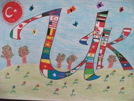 23 Nisan Çizimleri (Öğrenciler için ) - Güzel Sözler
