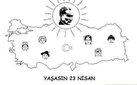 23 Nisan Boyama Sayfalari Ogrenciler Icin Guzel Sozler Ve