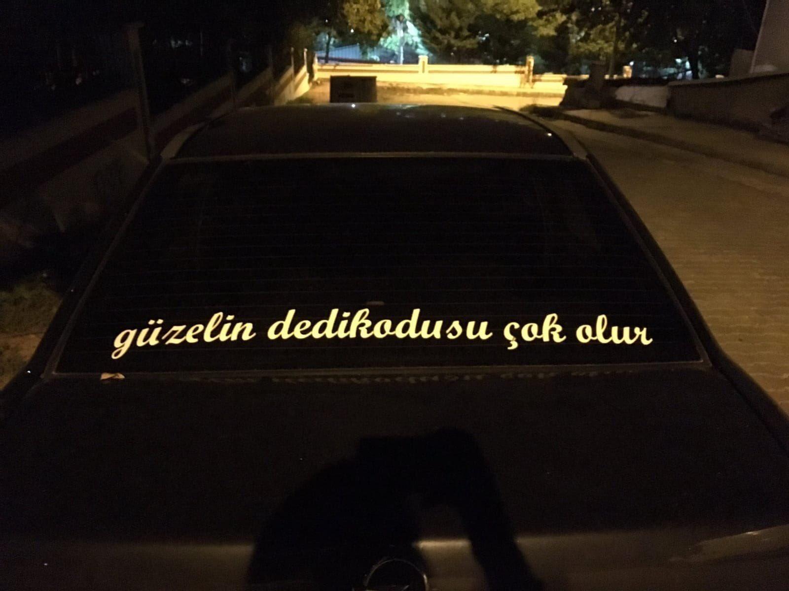 Doğan araba arkası yazıları