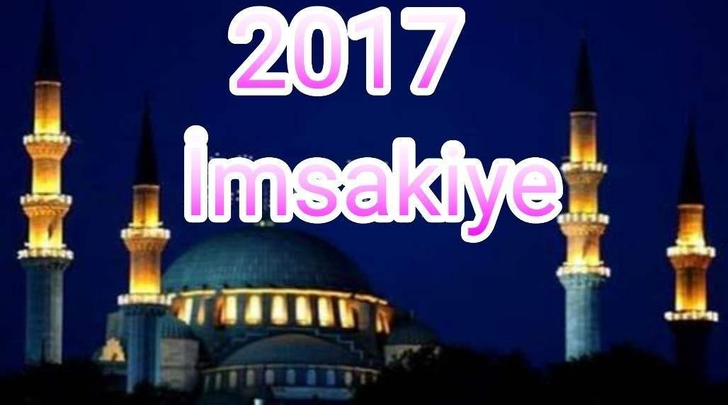 Kilis İftar Saati Ramazan imsakiyesi 2017