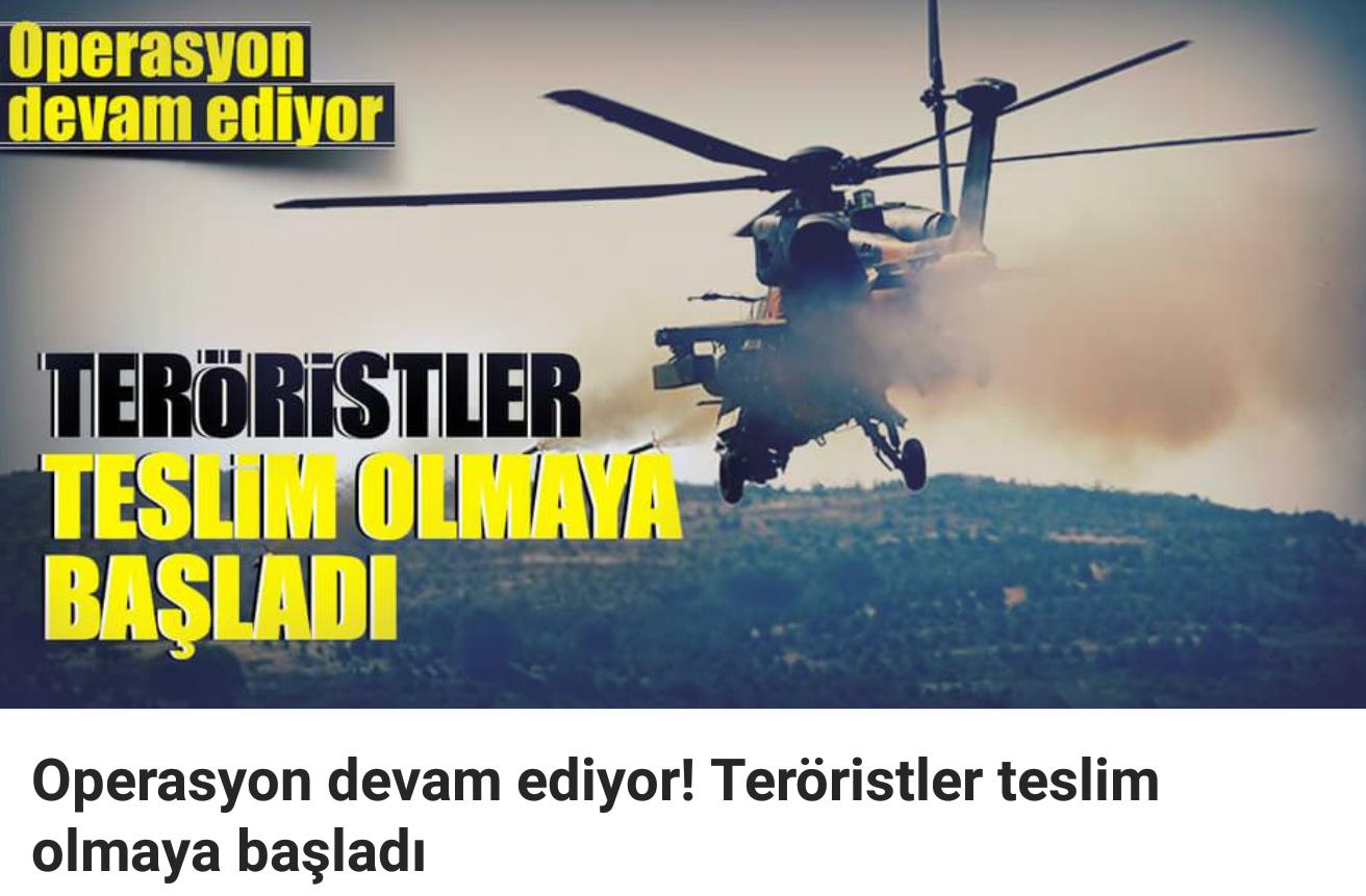 Operasyon Devam Ediyor ,Teröristler Teker Teker Teslim Oluyor