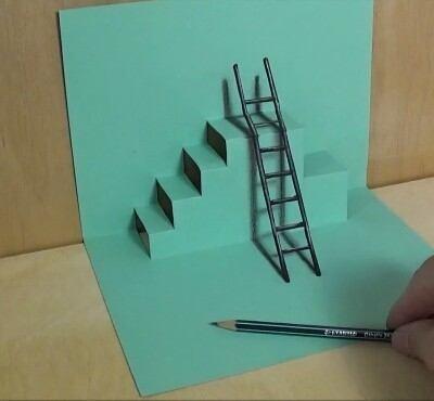 3 Boyutlu Gerçekle ile Aynı Merdiven Çizimi