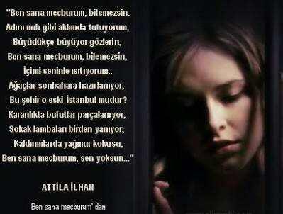 Aşk şiirleri Atilla Ilhan Ben Sana Mecburum Güzel Sözler