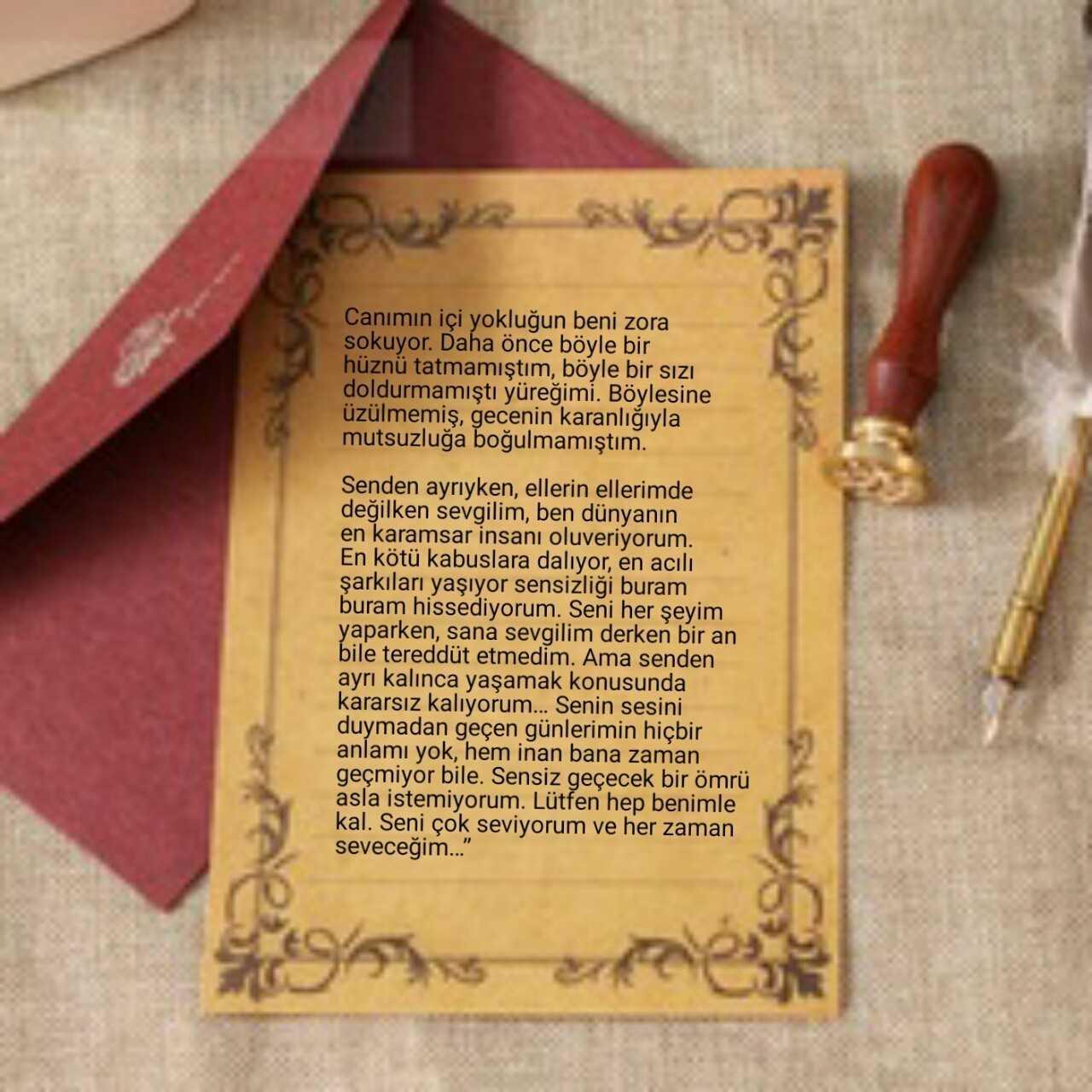 Sevgiliye İçten Mektup