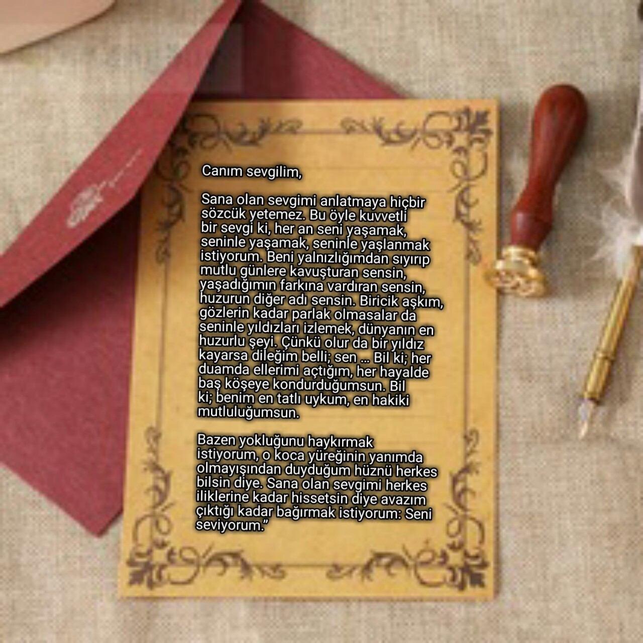 Sevgiliye Mektuplar -Canım Sevgilim
