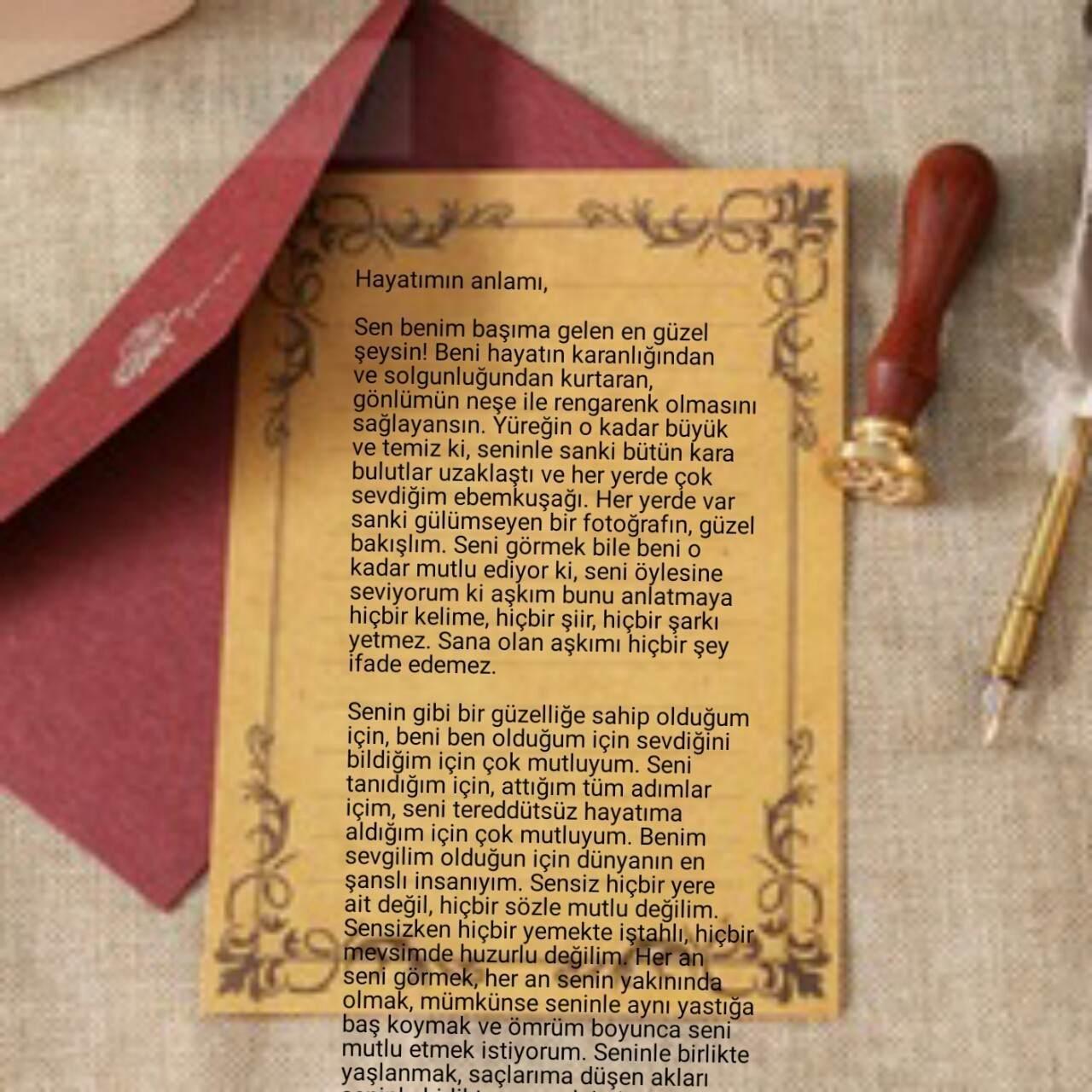 Sevgiliye Mektuplar -Yürekten Mektuplar