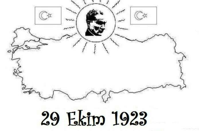 29 Ekim 1923 Turkiye Haritasi Boyama Sayfasi Güzel Sözler