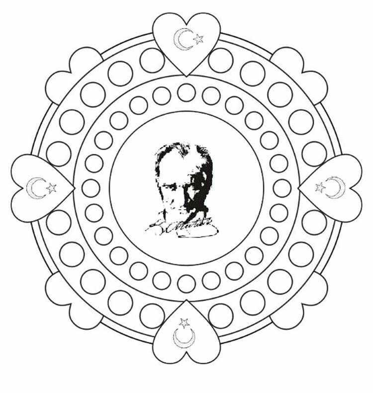 29 Ekim Atatürk Boyama Sayfaları Archives Güzel Sözler