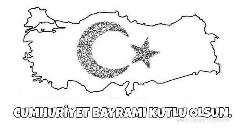 29 Ekim Cumhuriyet Bayram Boyama Ust Ev Boyama Sayfasi