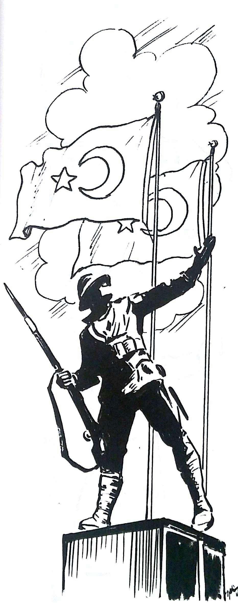 29 Ekim Karakalem Çizimleri  (Öğrenciler )