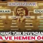Türkiyeye Dağılmış 24 Oguz Boyu (Ayrıntılı )
