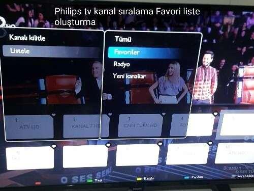 Philips tv Kanal Sıralama işlemi