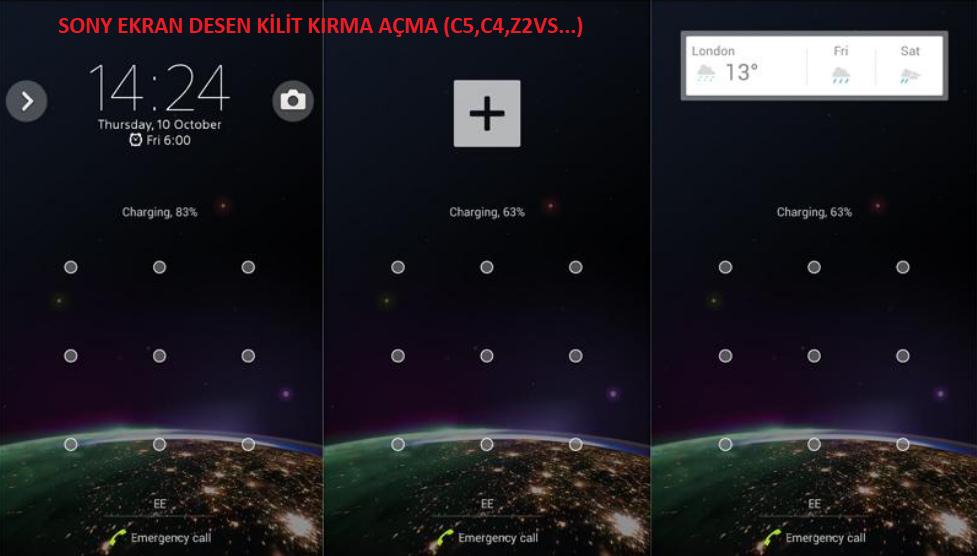 Sony Telofonlarda Ekran Kilidi,Deseni Kilidi Açma (Denenmiş Kesin Çözüm)