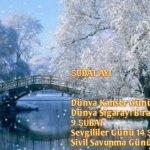 Şubat Ayı Önemli Günler Haftalar