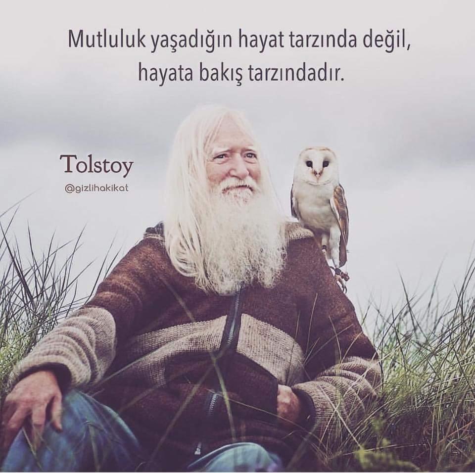 Mutluluk ile ilgili Tolstoy sözleri