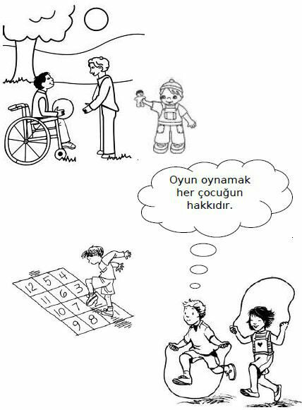 Engelliler Haftası Boyama Sayfalari 8 Güzel Sözler