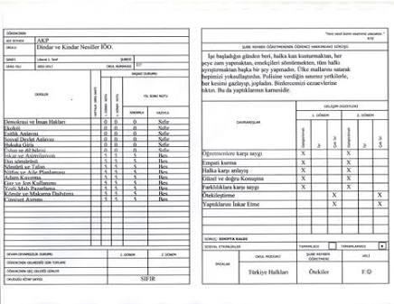 Karne Görüş Notları Normal Seviye Öğrencilere
