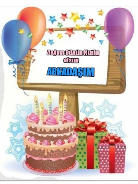 Arkadaşa resimli doğum günü mesajları