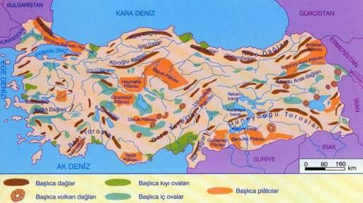 Fiziki Haritada Ovalar Hangi Renkle Gösterilir