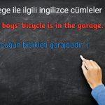 Garage ile ilgili ingilizce cümleler