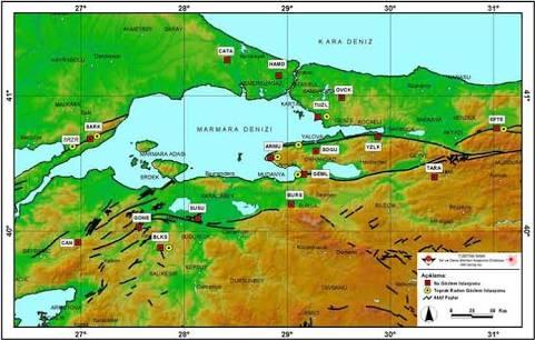 Marmara Bölgesi Yüzey Şekilleri