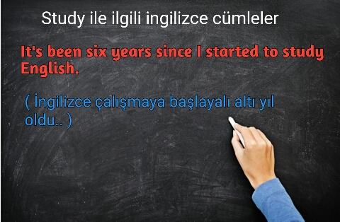 Study ile ilgili ingilizce cümleler