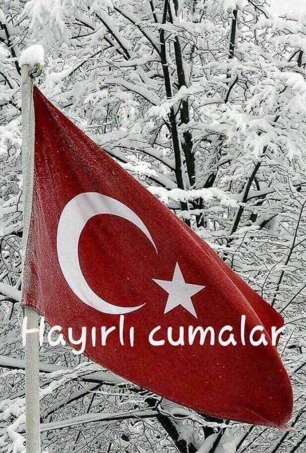 Turk bayraklı cuma mesajları