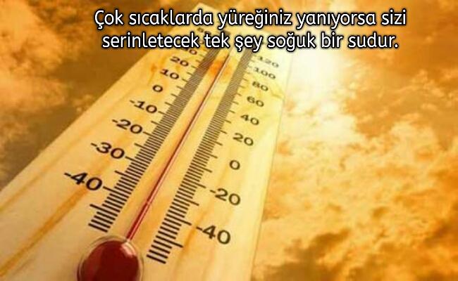Sıcak Hava ile ilgili Anlamlı ve Komik Sözler