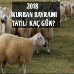 Kurban Bayramı Tatili 2018