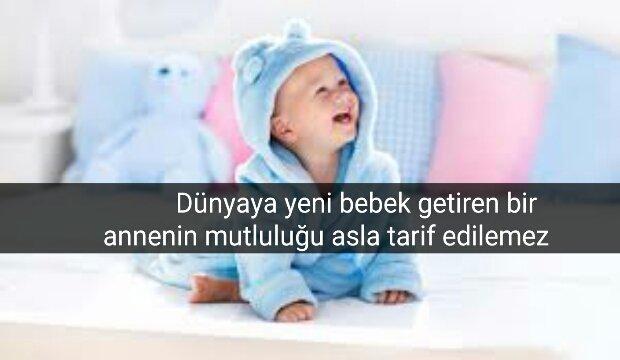 Bebeklerle ilgili güzel sözler