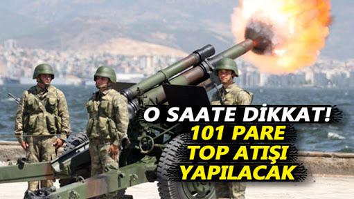 101 pare top atışı osmanlı Devleti