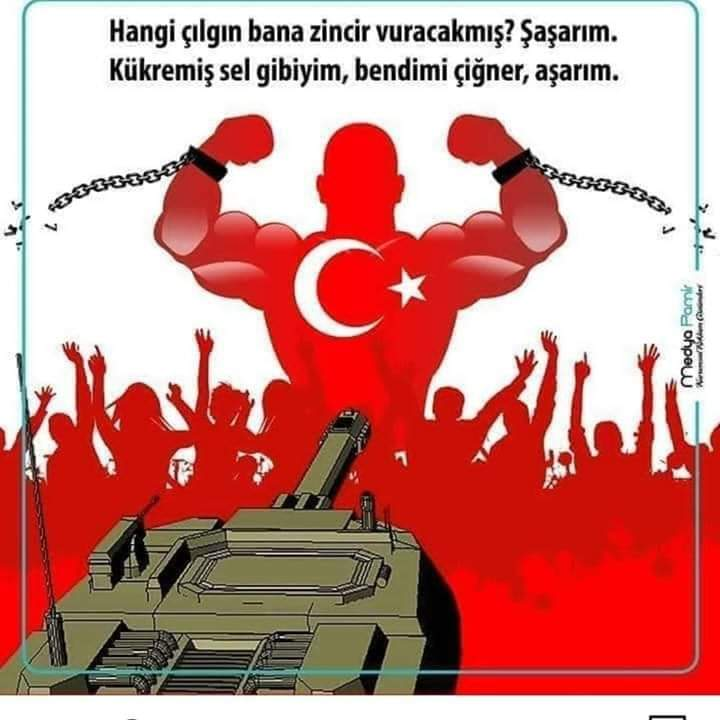 15 temmuz tank türk bayraklı insanlar