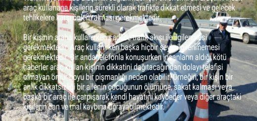 Trafik ve Dikkatsizlik ile ilgili Kompozisyon Örnekleri öğrenci ödevi