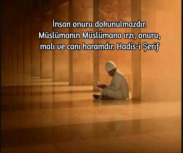 Müslüman islam ve onu ile ilgili hadisler