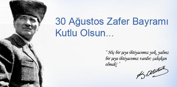 30 Ağustos Zafer Bayramı resimli sözler indir
