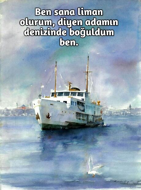 Gemideki sevgiliye güzel sözler