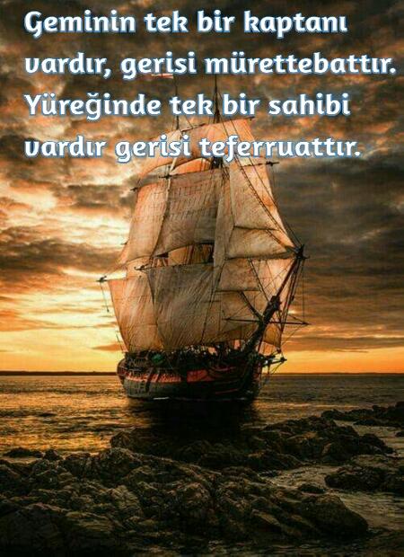 Gemi ve aşk sözleri