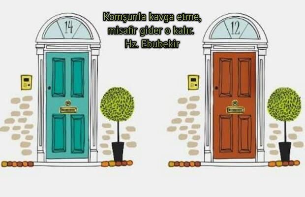 Komşular ile ilgili sözler