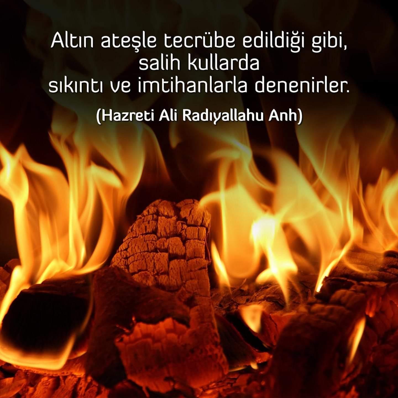 Hazreti Ali sıkıntı ve imtihanla ilgili sözleri