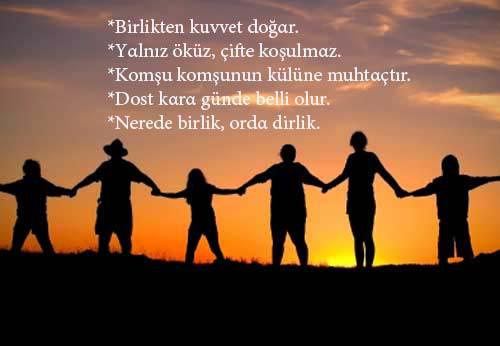 birlik beraberlik sözleri