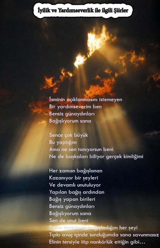 yardımseverlik ile ilgili şiirler