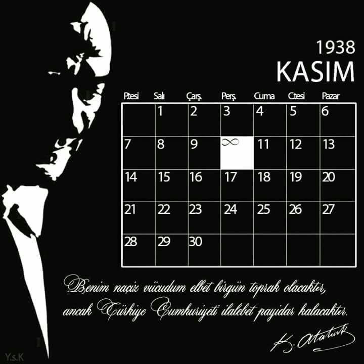Mustafa KEMAL atatürk anma mesajları instagram