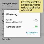 Samsung Telofonların Klavyesini Turkçe Yapma