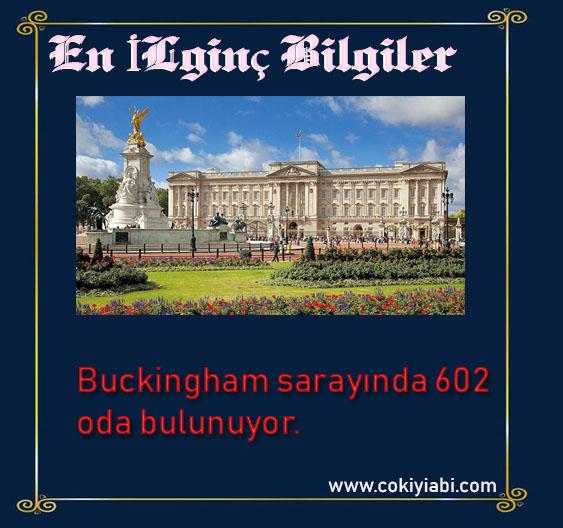 Buckingham sarayi hakkında ilginç bilgiler