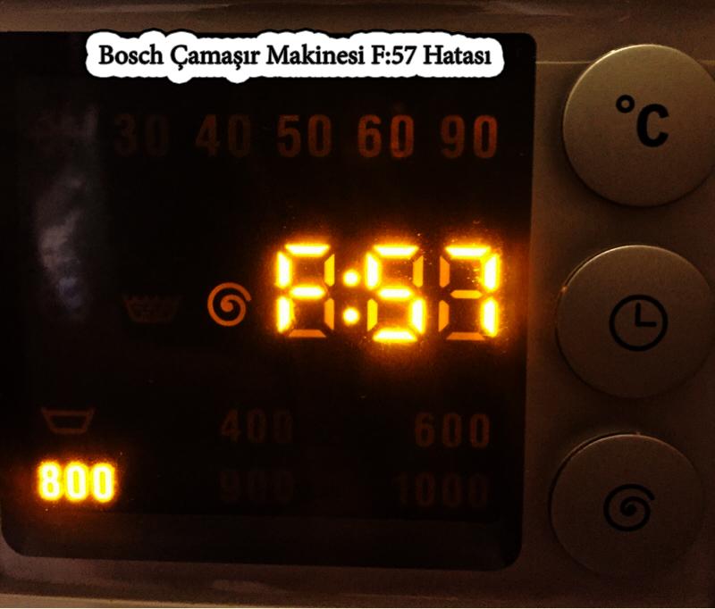 bosch camasir f 57 arıza kodu