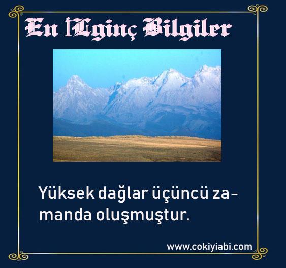 dağların oluşumu hakkında ilginç bilgiler